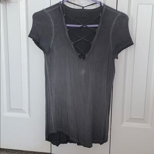 Distressed Soft & Sexy AE blouse.
